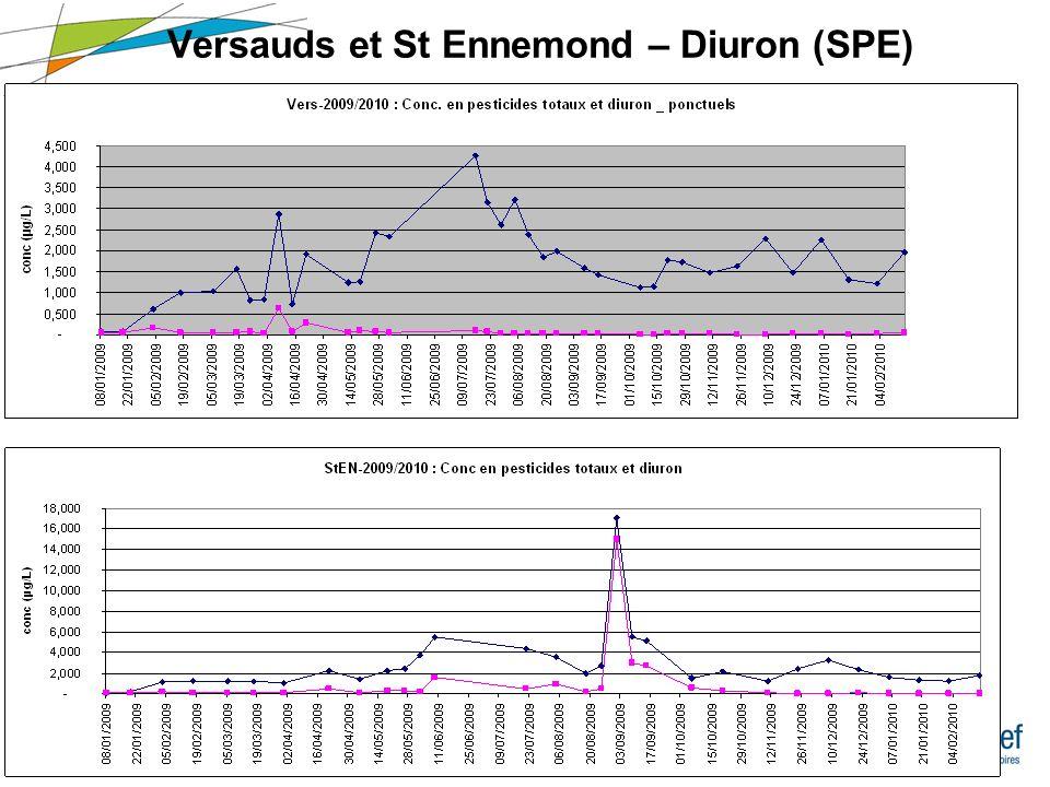 7 Réunion SAAM – 20/09/2010 Suivi du DIURON aux Versauds (SPE) 2006200820092010