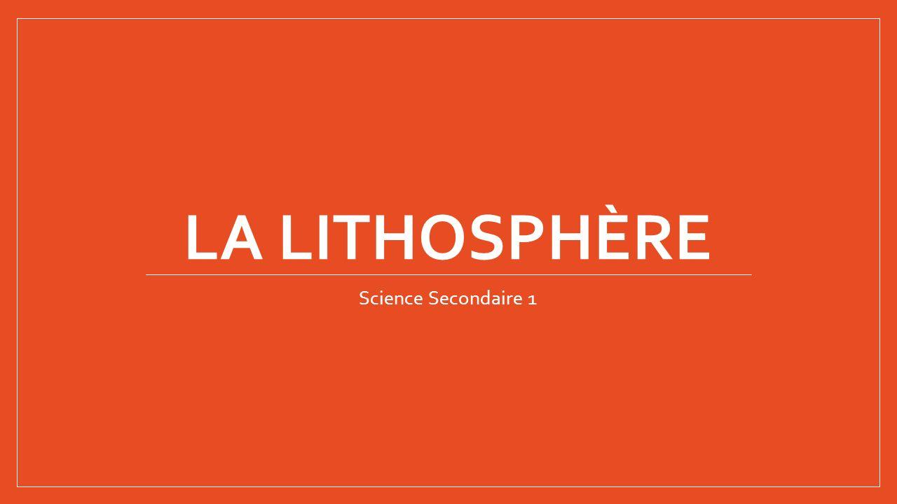 La lithosphère La lithosphere cest… Un ensemble solide qui comprend la croûte terrestre et une partie du manteau supérieur Les montagnes Les plaines Les volcans