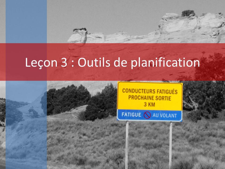Leçon 3 : Outils de planification