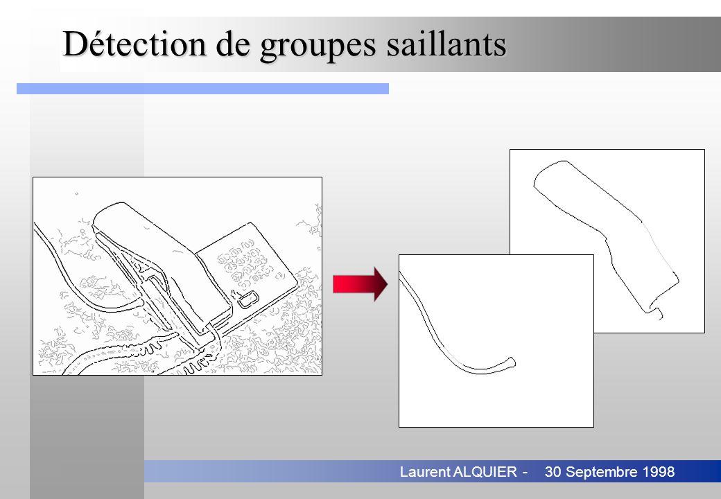 30 Septembre 1998Laurent ALQUIER - Détection de groupes saillants