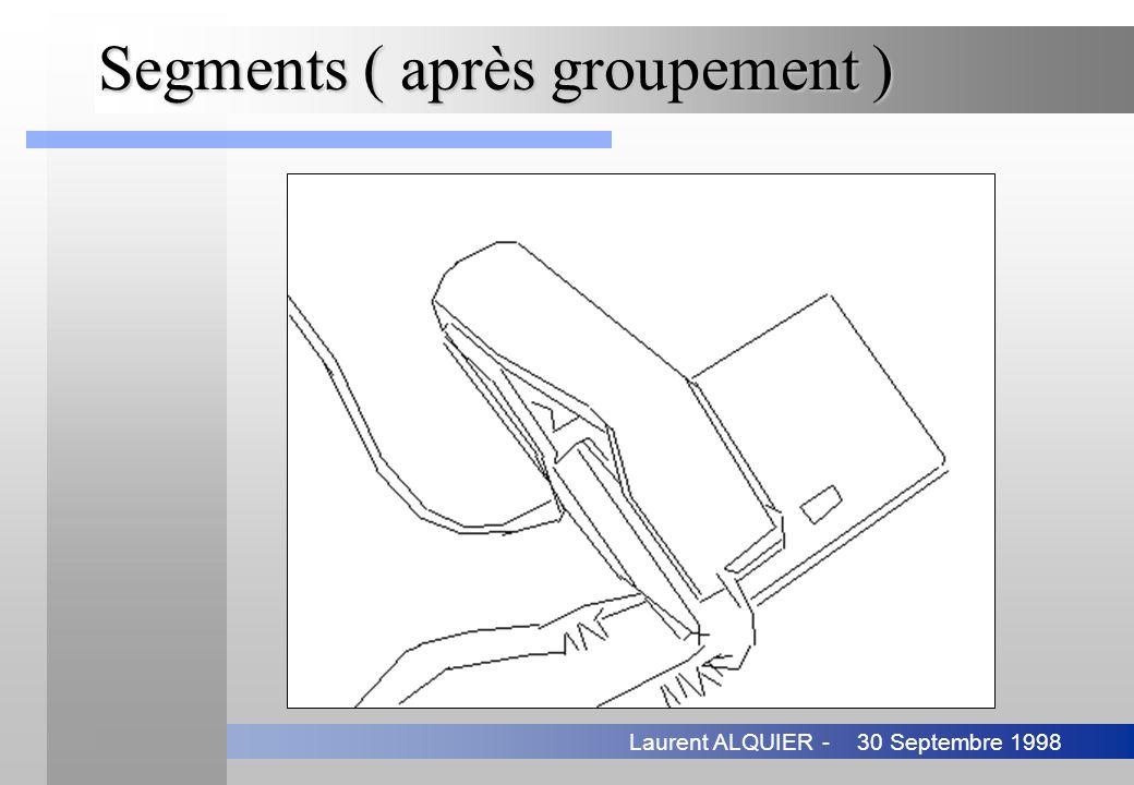 30 Septembre 1998Laurent ALQUIER - Segments ( après groupement )