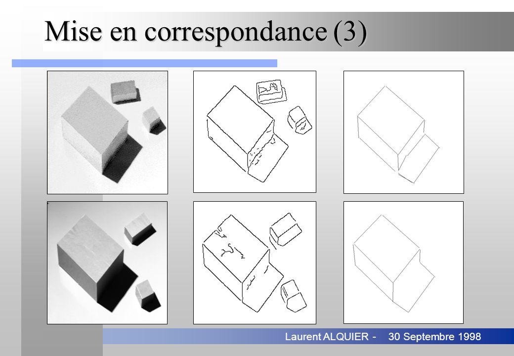 30 Septembre 1998Laurent ALQUIER - Mise en correspondance (3)