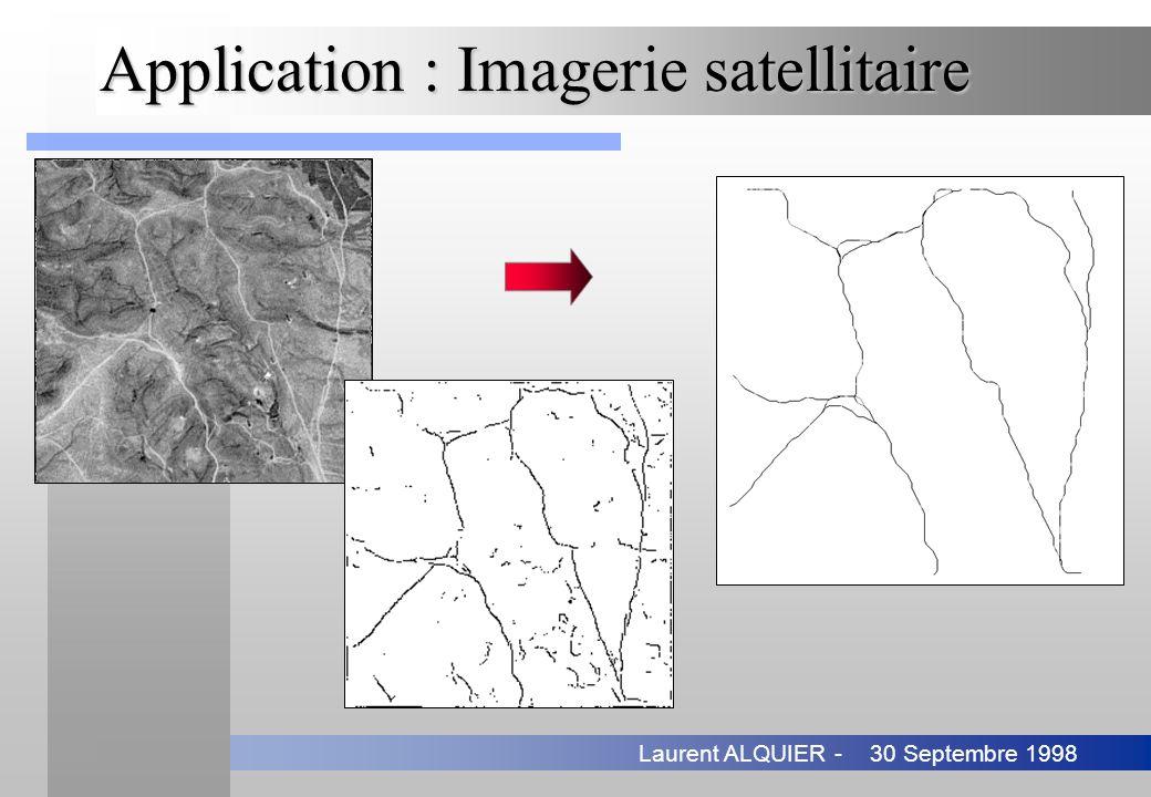 30 Septembre 1998Laurent ALQUIER - Application : Imagerie satellitaire