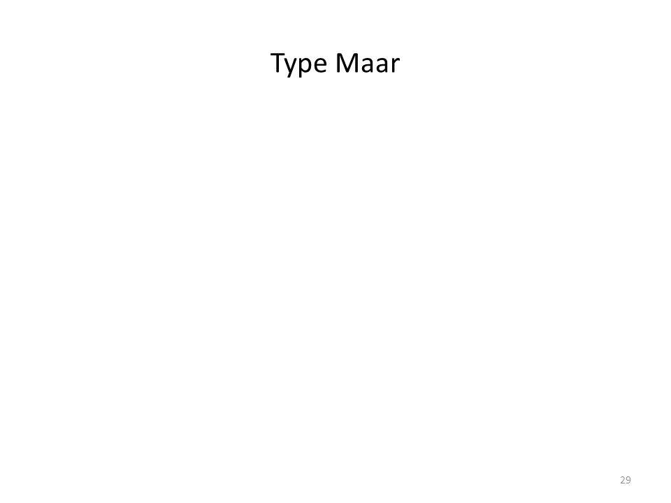 Type Maar 29