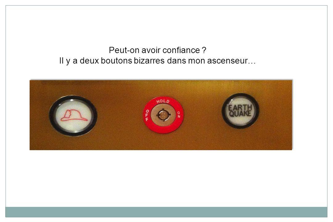 Peut-on avoir confiance ? Il y a deux boutons bizarres dans mon ascenseur…