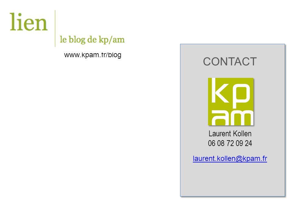 CONTACT Laurent Kollen 06 08 72 09 24 laurent.kollen@kpam.fr www.kpam.fr/blog