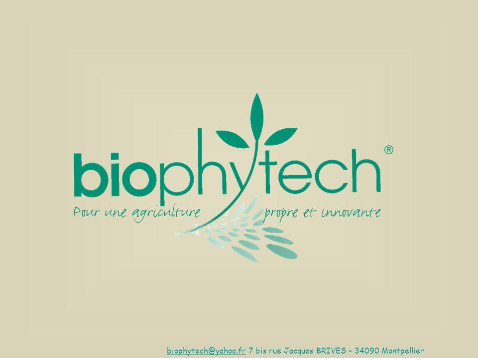biophytech@yahoo.frbiophytech@yahoo.fr 7 bis rue Jacques BRIVES – 34090 Montpellier