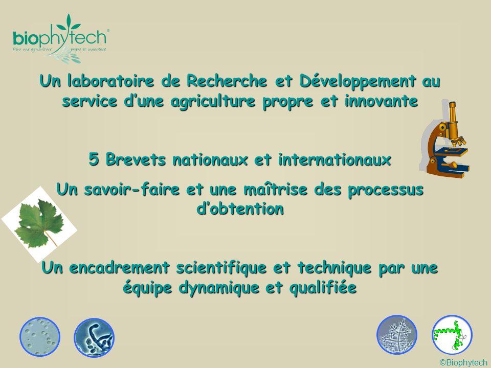 Un laboratoire de Recherche et Développement au service dune agriculture propre et innovante 5 Brevets nationaux et internationaux Un savoir-faire et