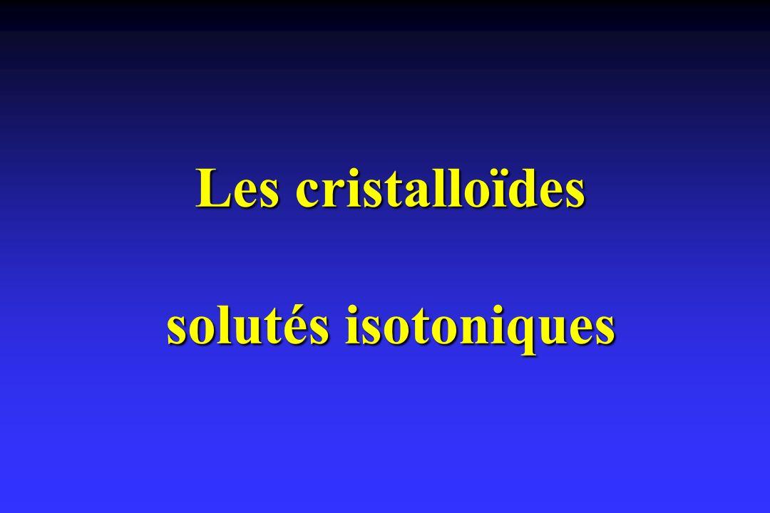 Les cristalloïdes solutés isotoniques