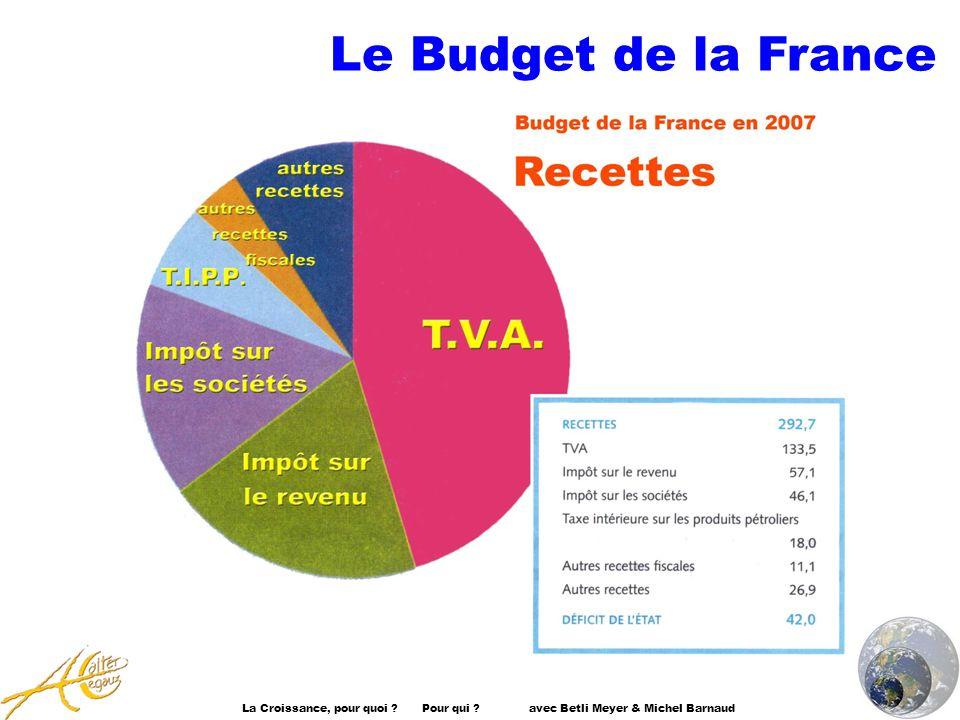 La Croissance, pour quoi ? Pour qui ? avec Betli Meyer & Michel Barnaud Le Budget de la France