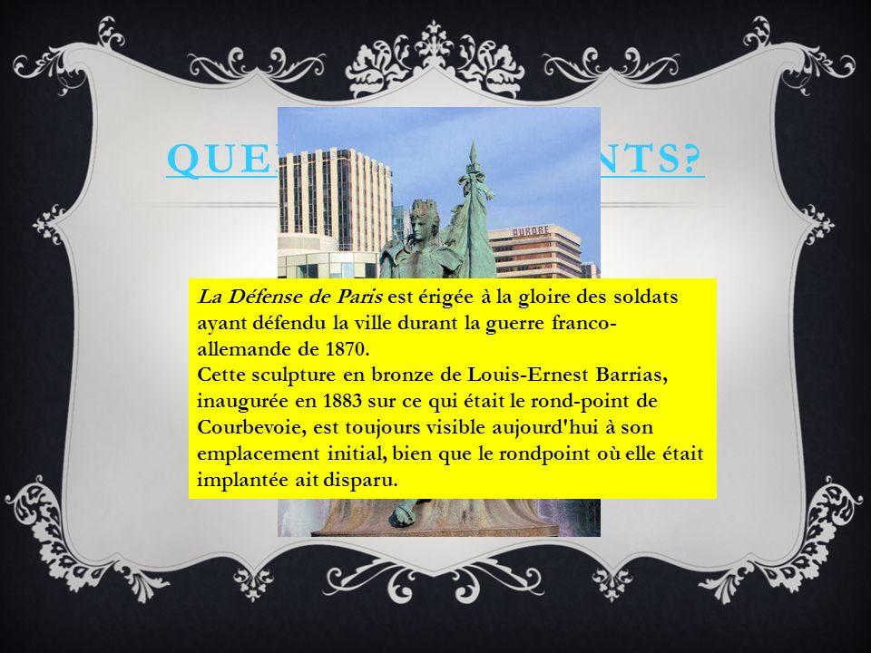 QUELS MONUMENTS.