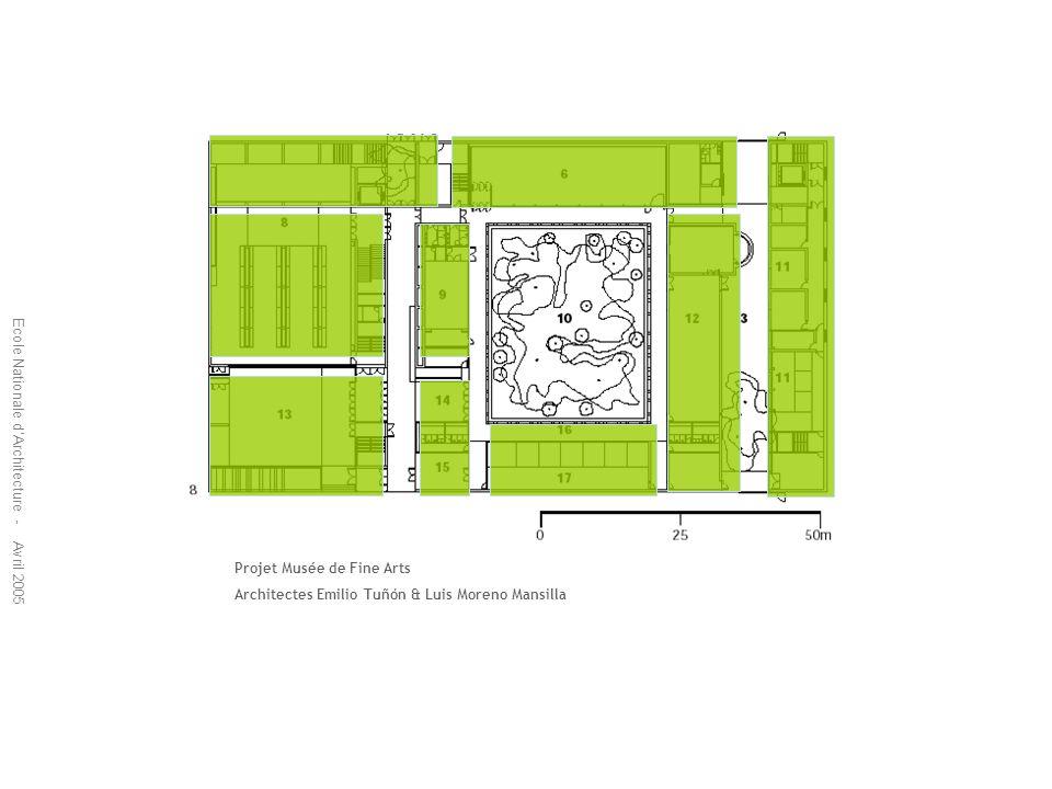 Projet Musée de Fine Arts Architectes Emilio Tuñón & Luis Moreno Mansilla