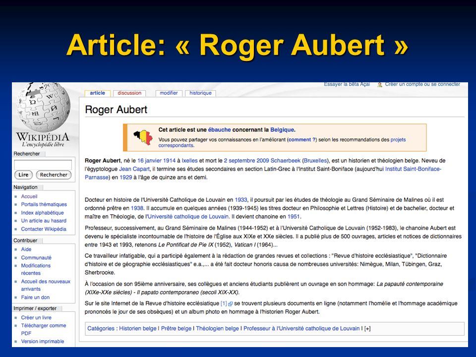 Article: « Roger Aubert »