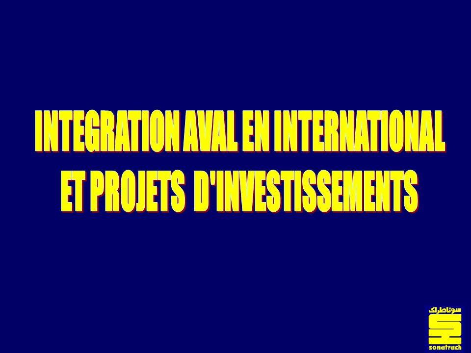 2 PLAN DE LEXPOSE Unités industrielles existantes Investissements réalisés les dix dernières années Investissements futurs Sonatrach à linternationale