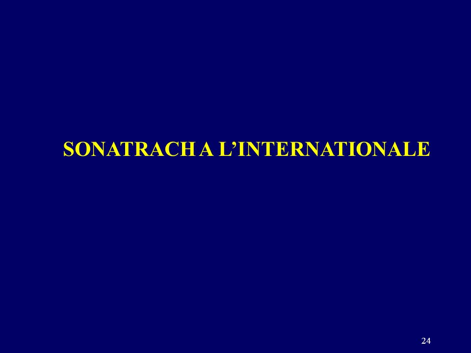 24 SONATRACH A LINTERNATIONALE