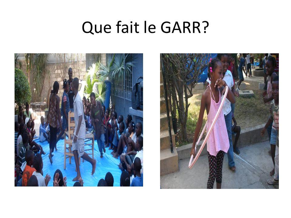 Que fait le GARR?