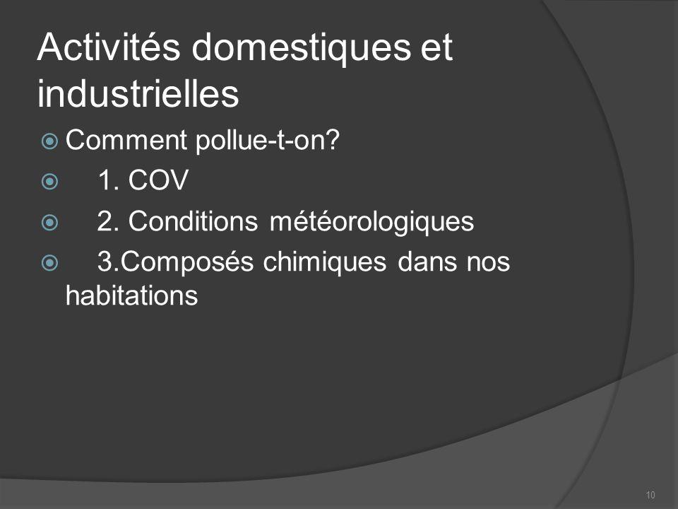 10 Activités domestiques et industrielles Comment pollue-t-on.