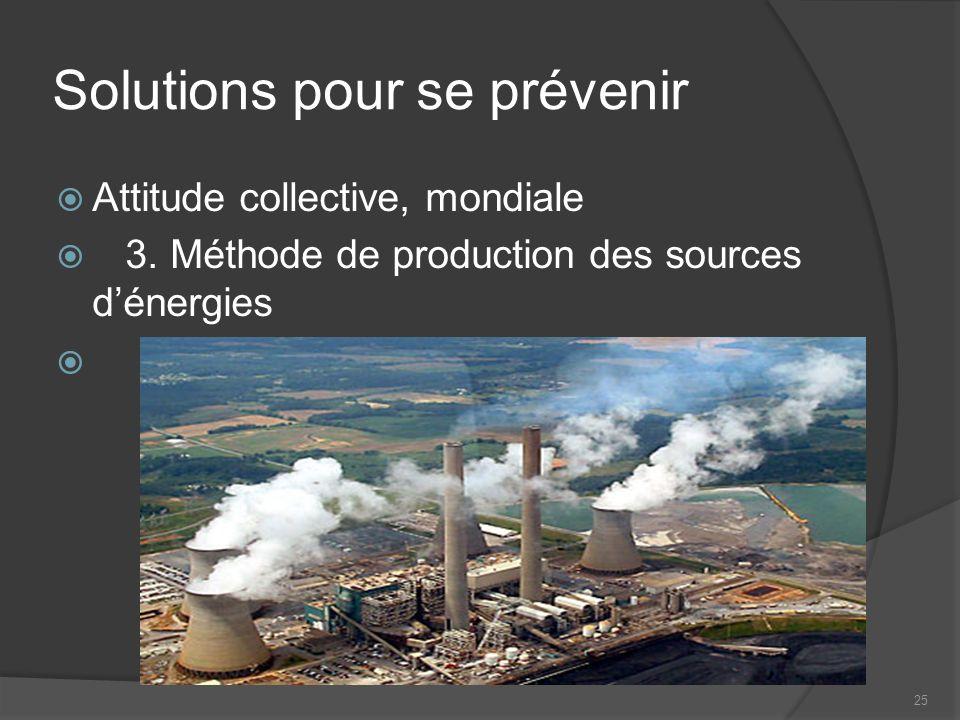 25 Solutions pour se prévenir Attitude collective, mondiale 3.