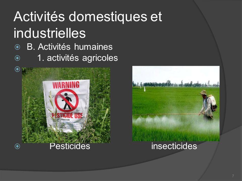 7 Activités domestiques et industrielles B.Activités humaines 1.