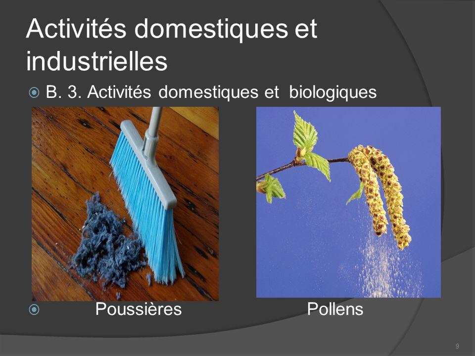 9 Activités domestiques et industrielles B.3.