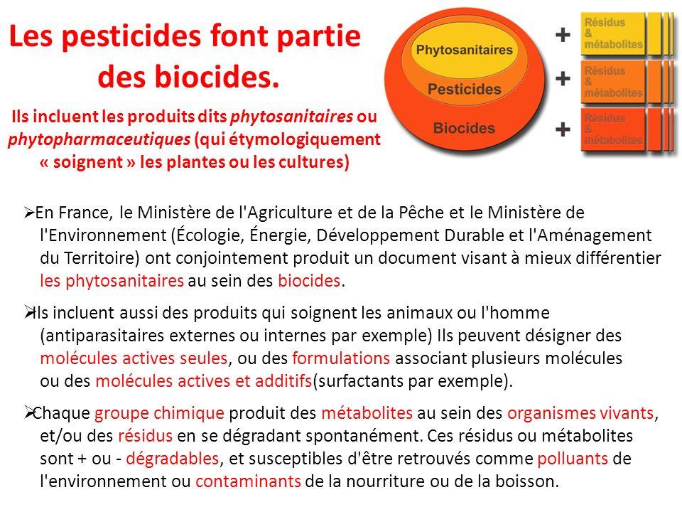 En France, le Ministère de l'Agriculture et de la Pêche et le Ministère de l'Environnement (Écologie, Énergie, Développement Durable et l'Aménagement