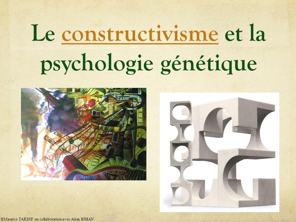 Le grand psychologue suisse Jean Piaget (1896-1980), fondateur du constructivisme : « L intelligence organise le monde en s organisant elle- même »Jean Piaget ©Maurice TARDIF en collaboration avec Alain BIHAN