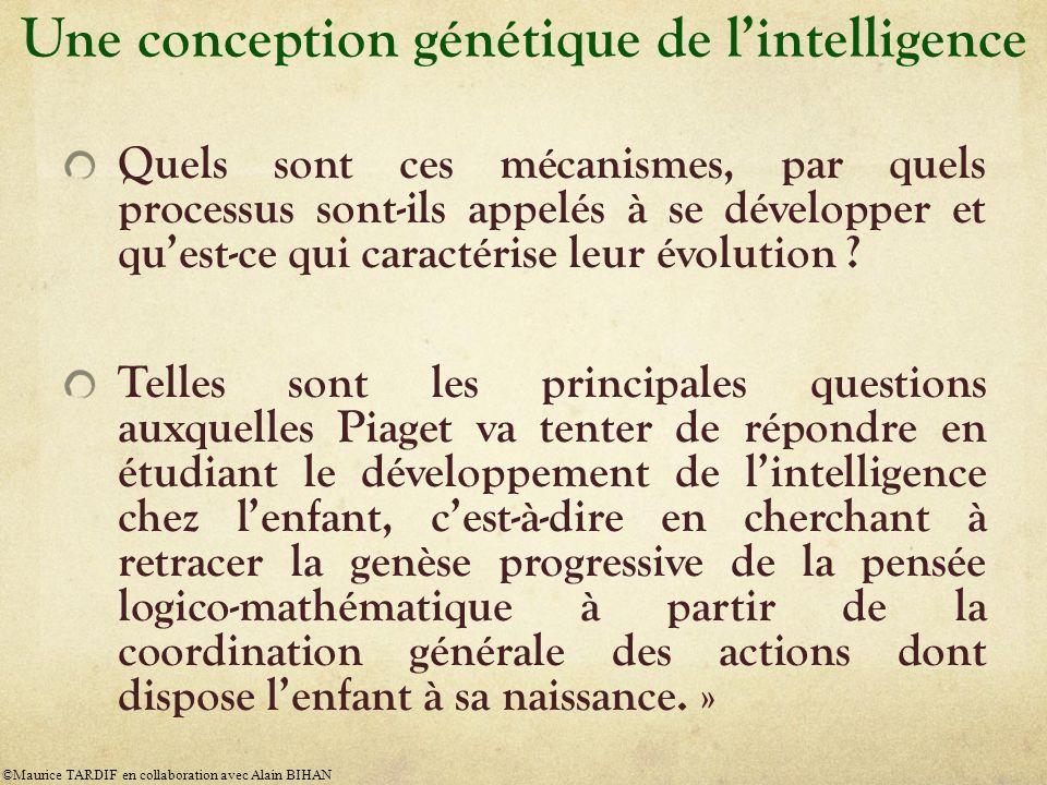Une conception génétique de lintelligence Quels sont ces mécanismes, par quels processus sont-ils appelés à se développer et quest-ce qui caractérise