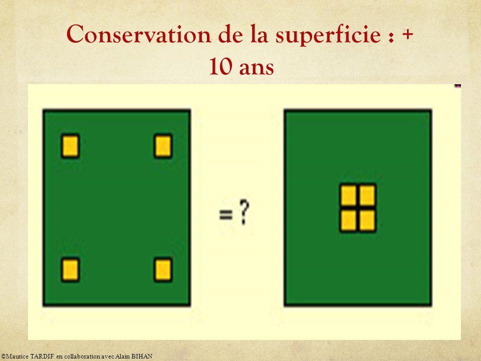 Conservation de la superficie : + 10 ans ©Maurice TARDIF en collaboration avec Alain BIHAN