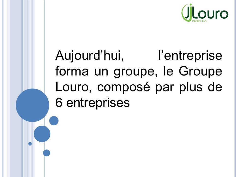 Aujourdhui, lentreprise forma un groupe, le Groupe Louro, composé par plus de 6 entreprises