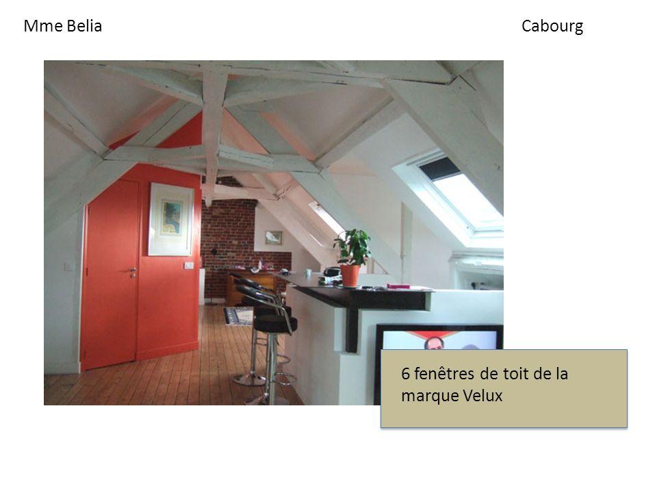 Mme BeliaCabourg 6 fenêtres de toit de la marque Velux