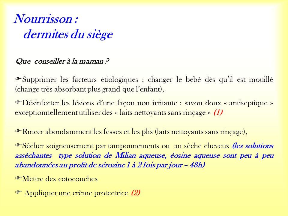 Nourrisson : dermites du siège Que conseiller à la maman .