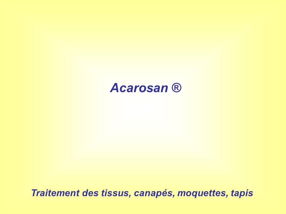 Traitement des tissus, canapés, moquettes, tapis Acarosan ®