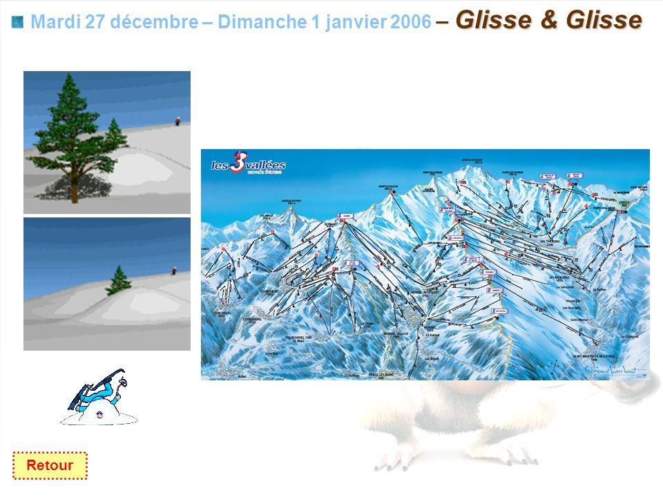 Glisse & Glisse Mardi 27 décembre – Dimanche 1 janvier 2006 – Glisse & Glisse Retour