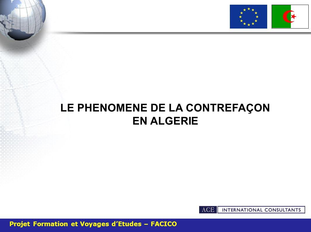 Projet Formation et Voyages dEtudes – FACICO Le taux du piratage en Algérie durant les dix premiers mois de lannée 2009 est de 84%, soit huit logiciels sur dix sont de vrais faux.