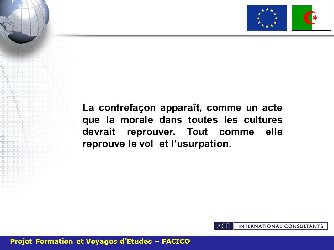 Projet Formation et Voyages dEtudes – FACICO Les entreprises des pays industrialisés hésitent à investir en Algérie.