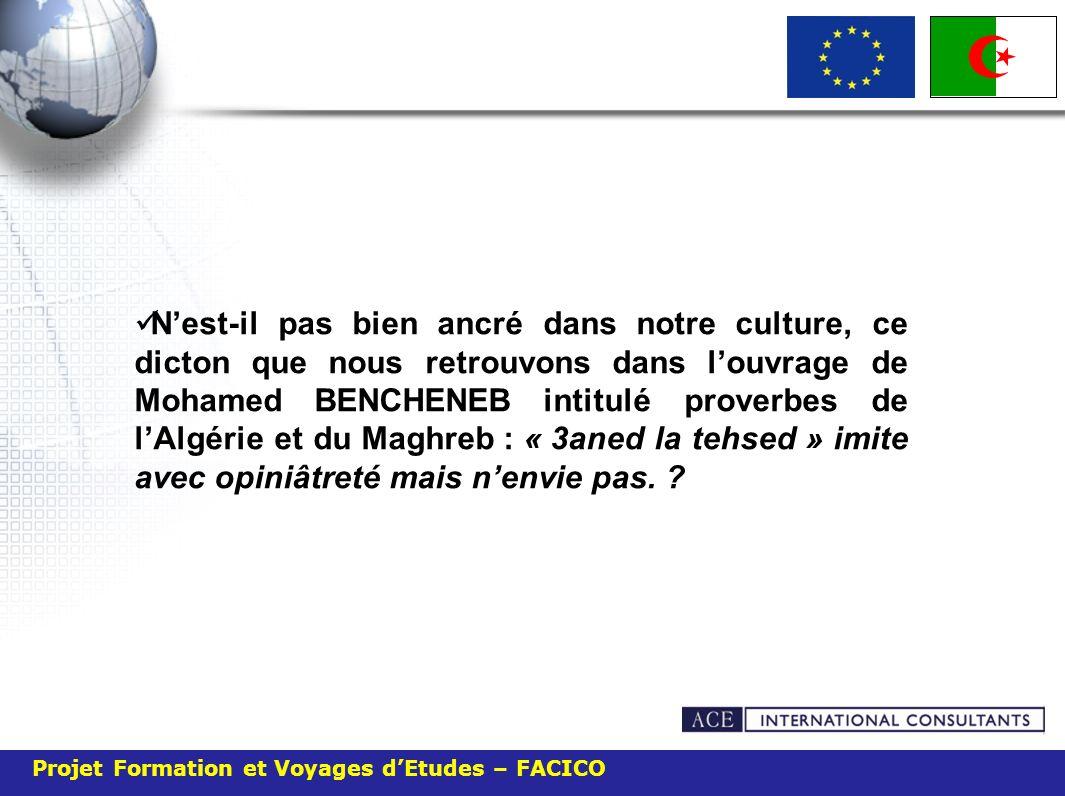 Projet Formation et Voyages dEtudes – FACICO La contrefaçon en Algérie concerne aussi bien les produits nationaux que les produits étrangers