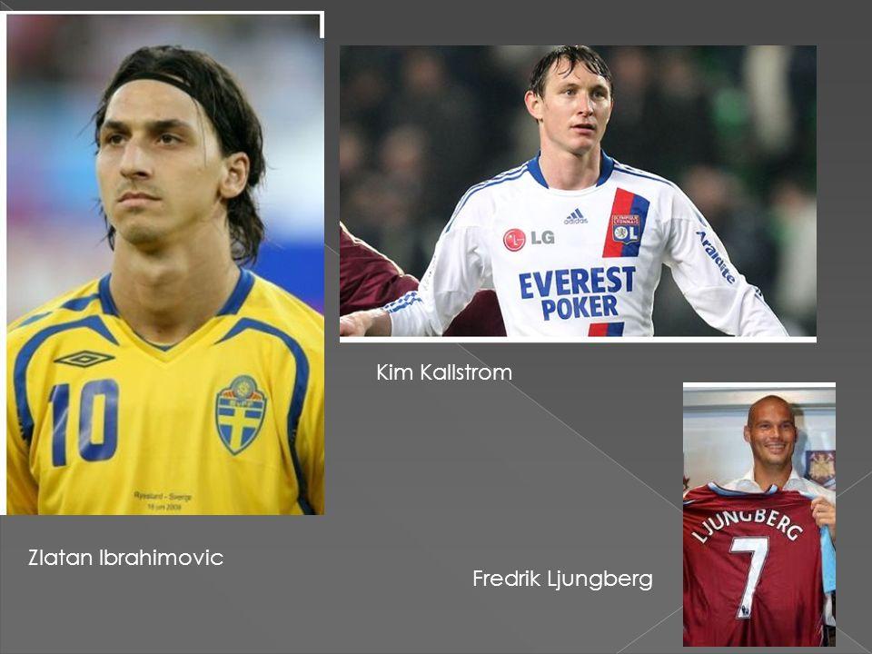 Zlatan Ibrahimovic Kim Kallstrom Fredrik Ljungberg