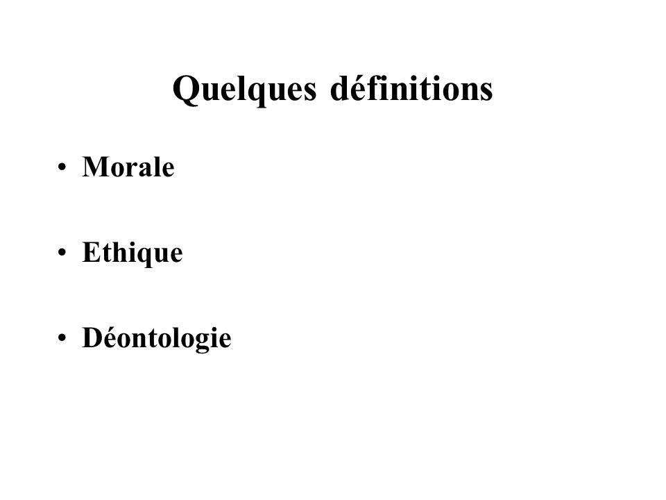 Morale, Ethique - « Comme elle touche aux mœurs ( mores ),que l on nomme en grec éthos nous appelons habituellement cette partie de la philosophie « des mœurs »; mais il convient daccroître notre langue en la nommant « morale » (moralem).