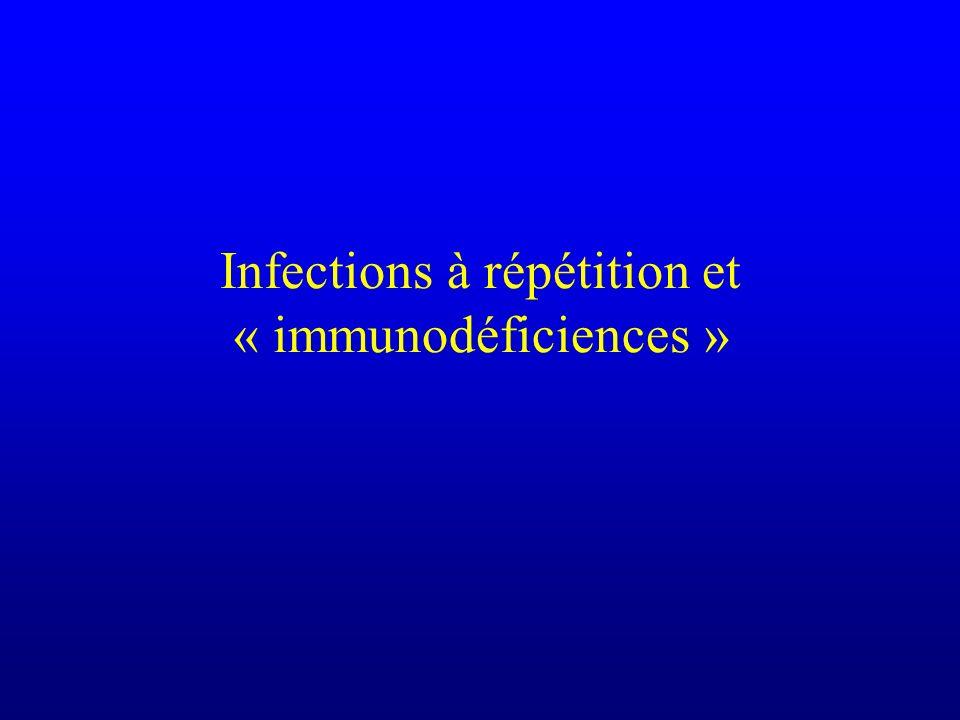 Infections à répétition et « immunodéficiences »