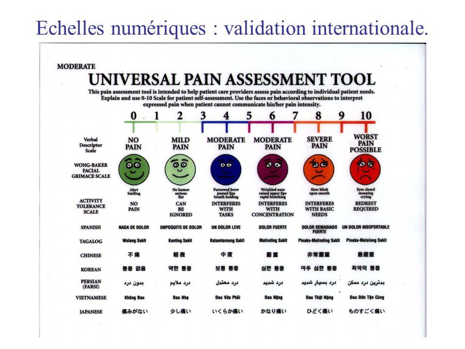 Echelles numériques : validation internationale.
