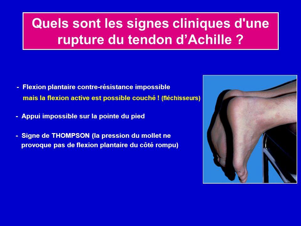 Quelle est la C.A.T orthopédique habituelle face à une rupture du tendon d Achille ?