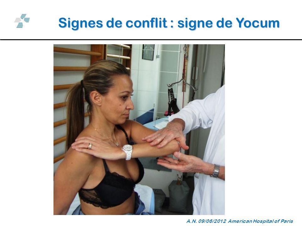 Signes de conflit : signe de Yocum A.N. 09/06/2012 American Hospital of Paris