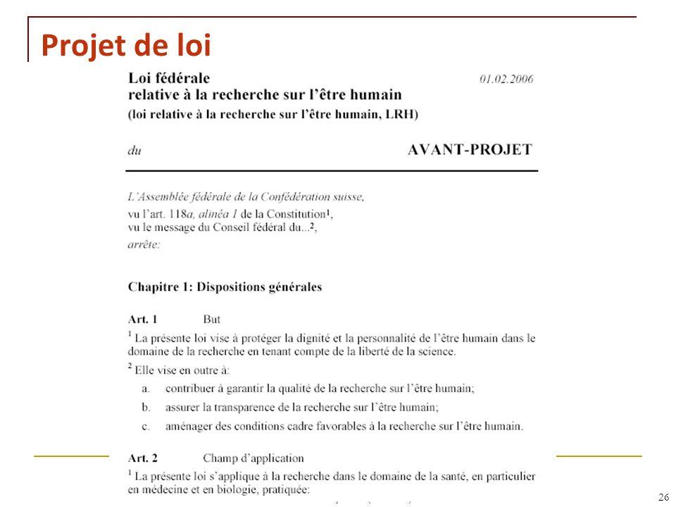 RNT - Leçon 10 (2.5.2011)26 Projet de loi