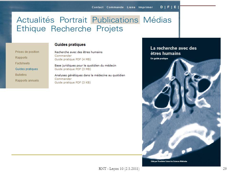 RNT - Leçon 10 (2.5.2011)29