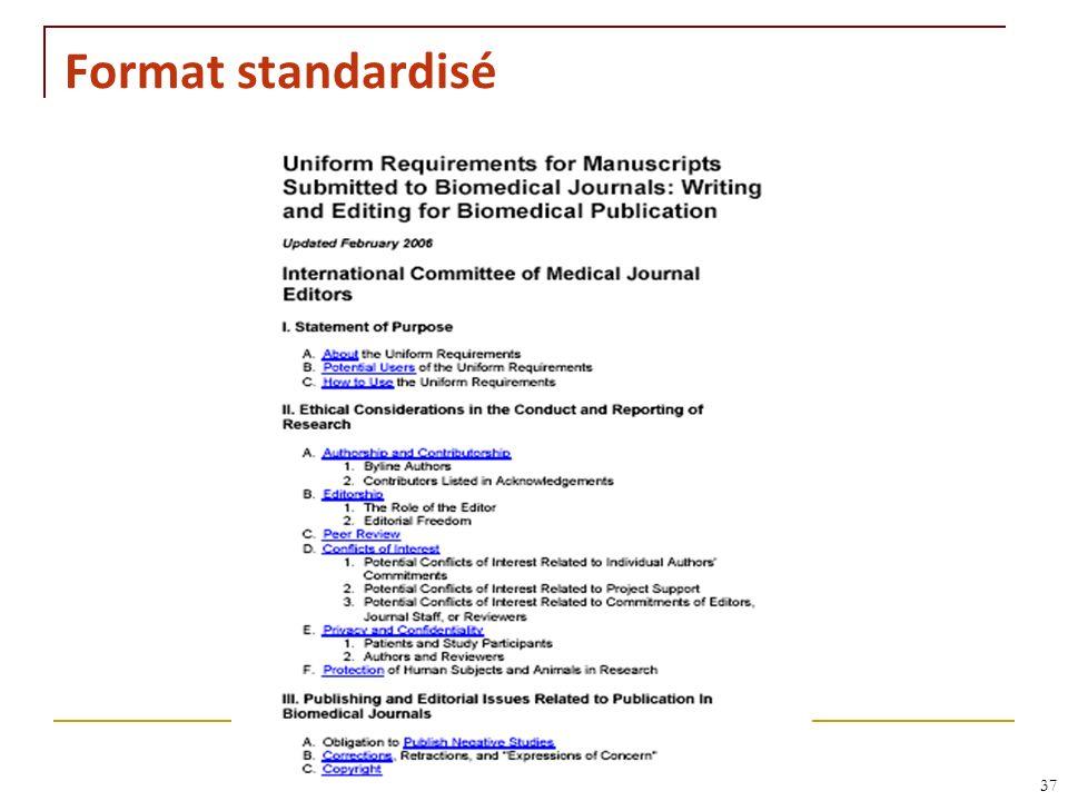 RNT - Leçon 10 (2.5.2011)37 Format standardisé
