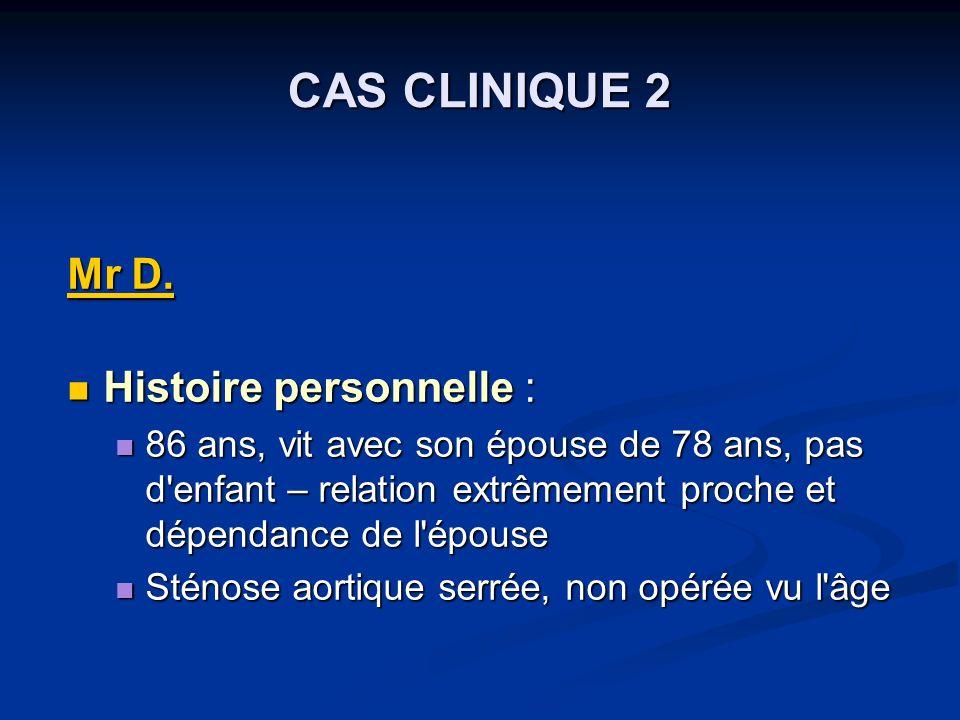 CAS CLINIQUE 2 Mr D.