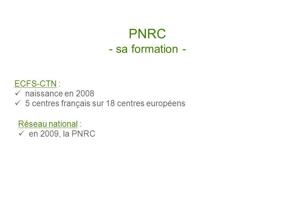 PNRC - le comité de pilotage - Président de la Fédération des CRCMs Directeur Action Recherche de Vaincre la Mucoviscidose Coordonnateurs des centres de référence 1 représentant de chaque centre actif au sein du lECFS-CTN 1 représentant de chaque réseau inter-régional 1 représentant du Registre Français de la Mucoviscidose chargée recherche clinique de Vaincre la Mucoviscidose les référents inter-régionaux