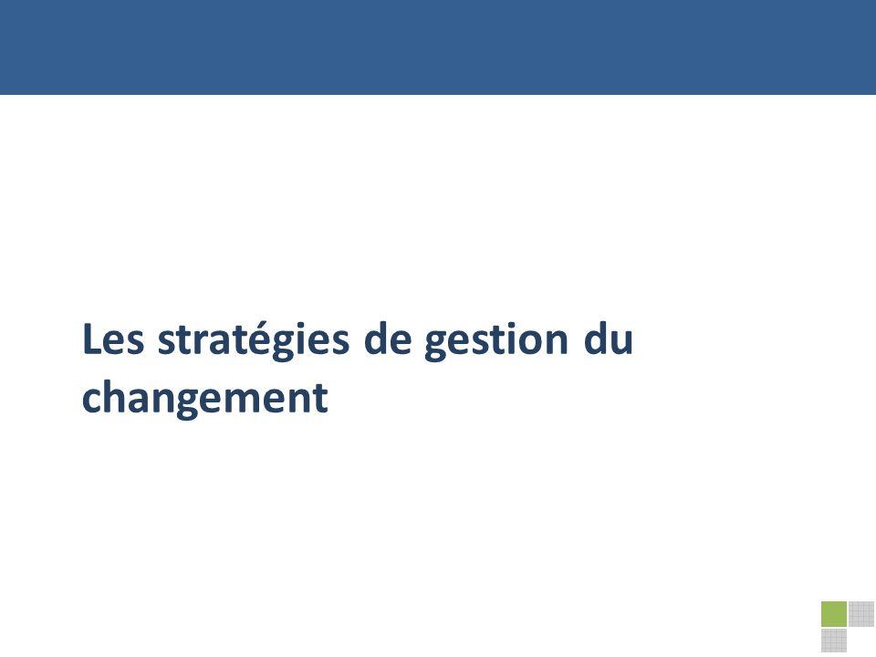 Les stratégies de gestion du changement