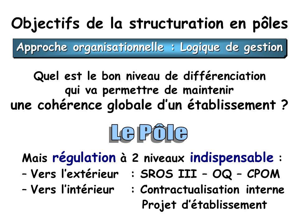 Objectifs de la structuration en pôles Quel est le bon niveau de différenciation qui va permettre de maintenir une cohérence globale dun établissement .