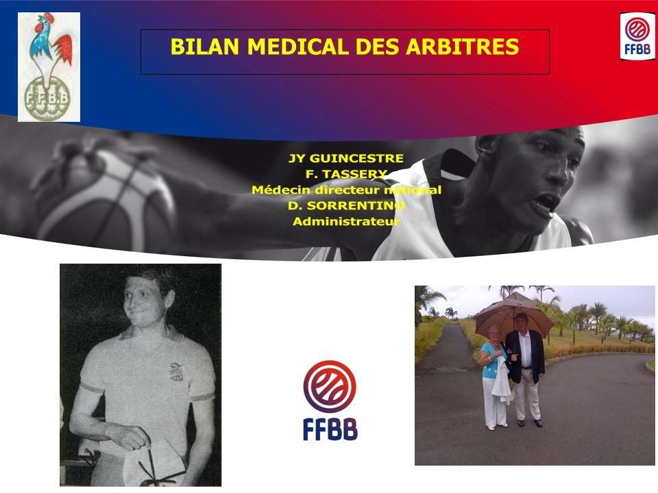 BILAN MEDICAL DES ARBITRES